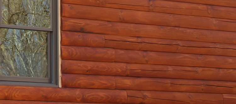 Log Home Face Restoration  Owensboro, Kentucky